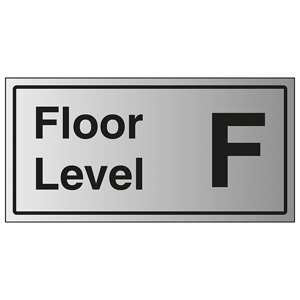 Floor Level F - Aluminium Effect