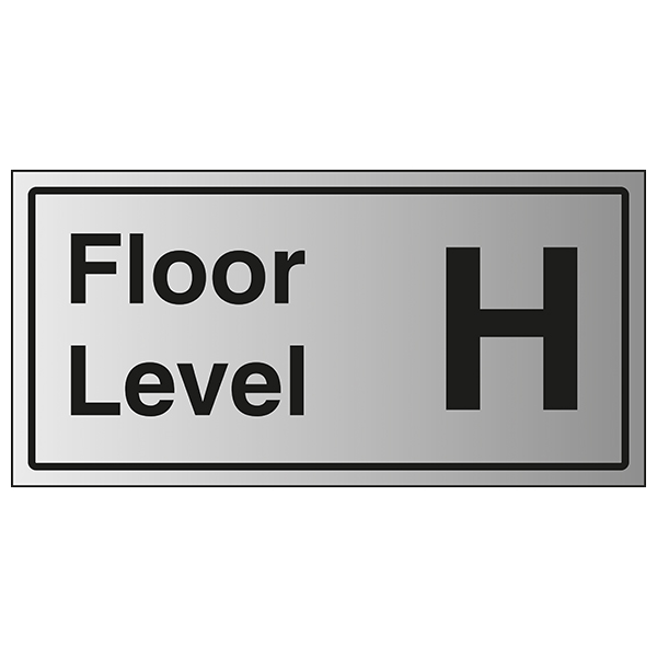 Floor Level H - Aluminium Effect