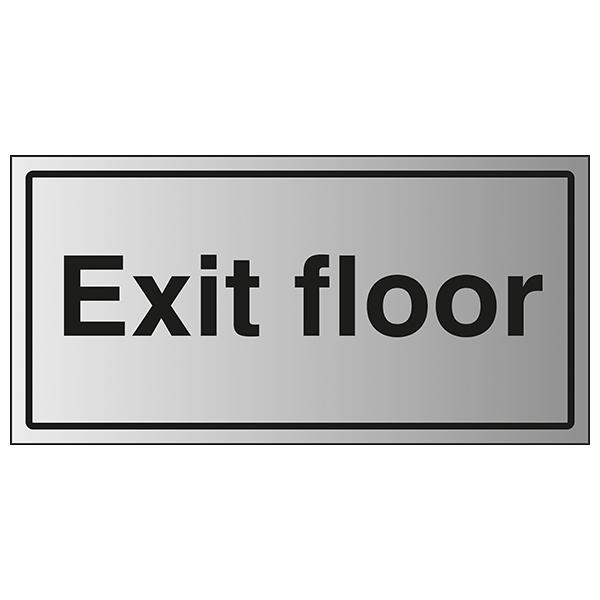 Exit Floor - Aluminium Effect