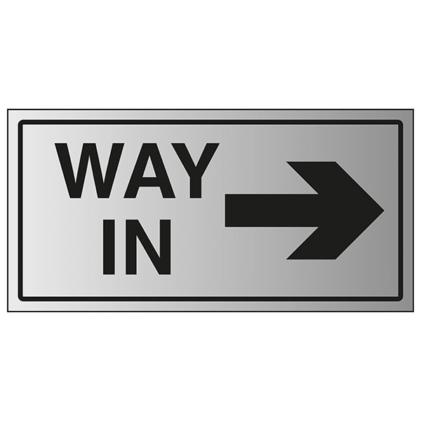 Way In Arrow Right - Aluminium Effect