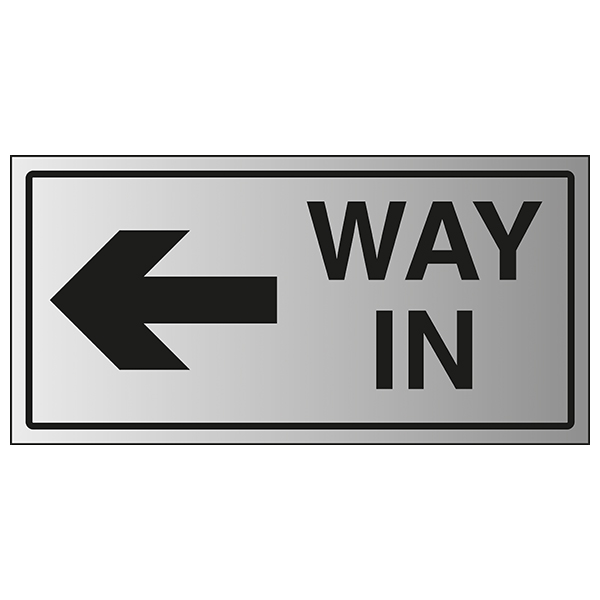 Way In Arrow Left - Aluminium Effect