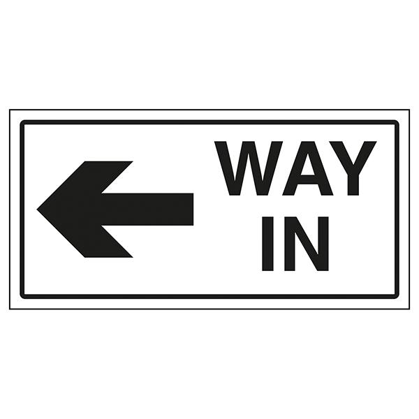 Way In Arrow Left