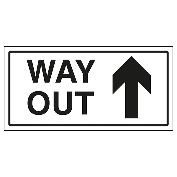 Way Out Arrow Up