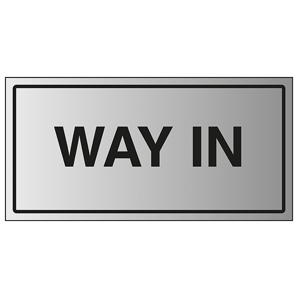 Way In - Aluminium Effect