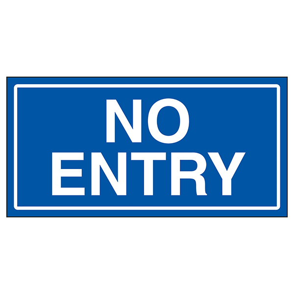 No Entry Blue