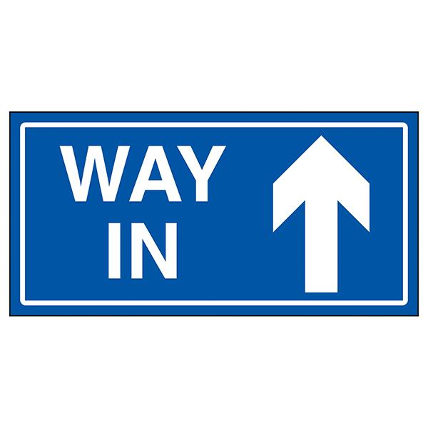 Way In Arrow Up Blue