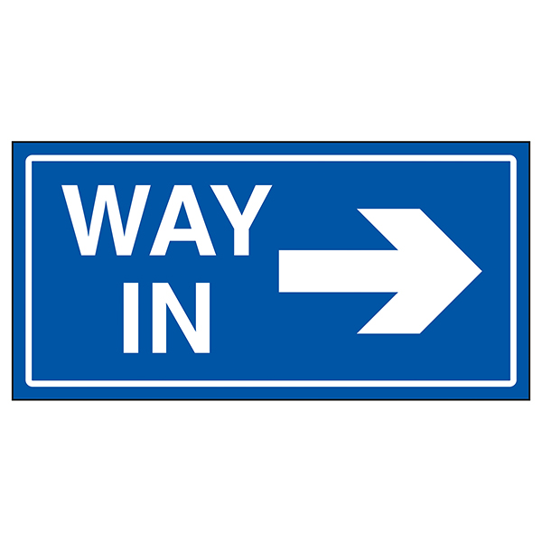 Way In Arrow Right Blue