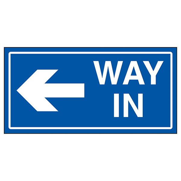 Way In Arrow Left Blue