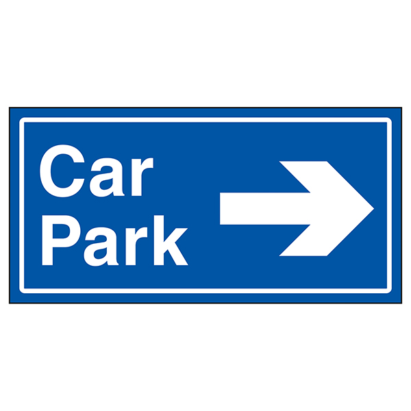 Car Park Arrow Right Blue
