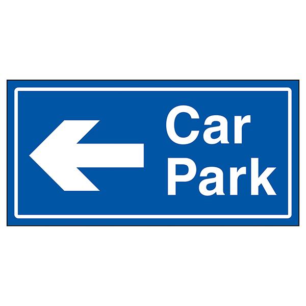 Car Park Arrow Left Blue