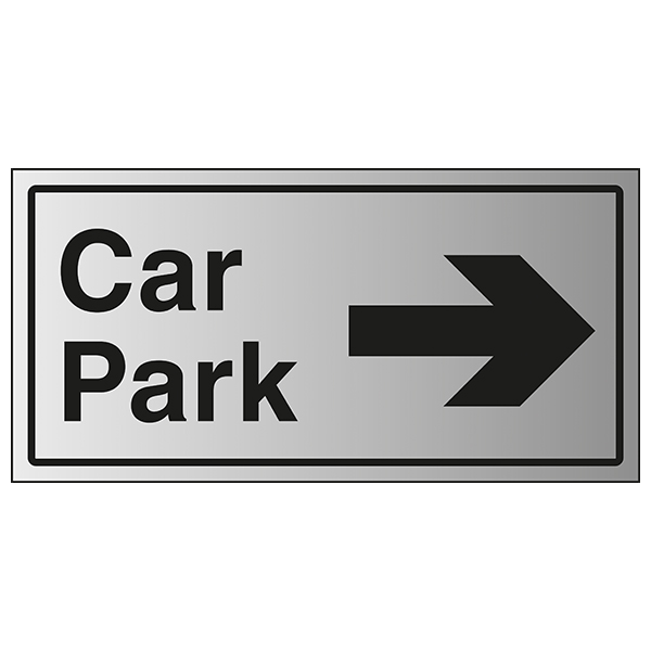 Car Park Arrow Right - Aluminium Effect