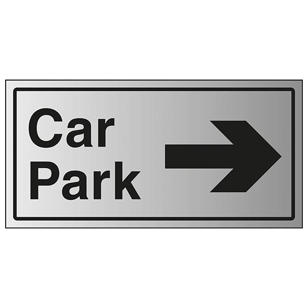 Car Park Arrow Right - Aluminium Effect