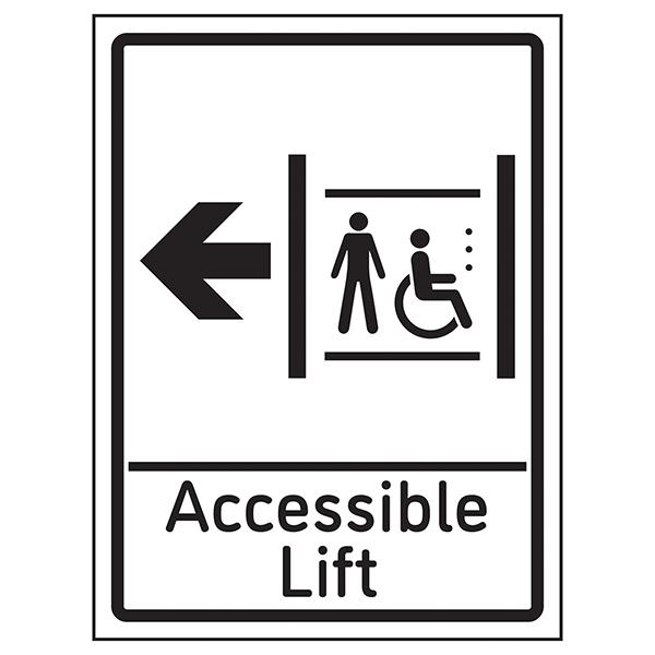 Accessible Lift Arrow Left