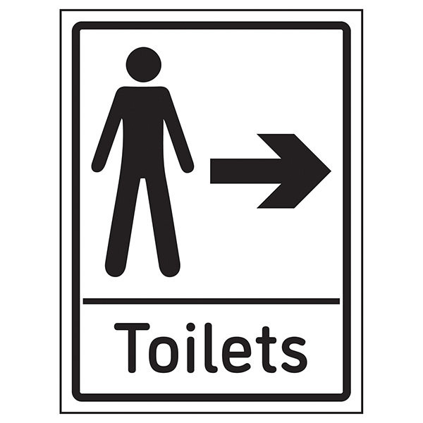 Mens Toilets Arrow Right