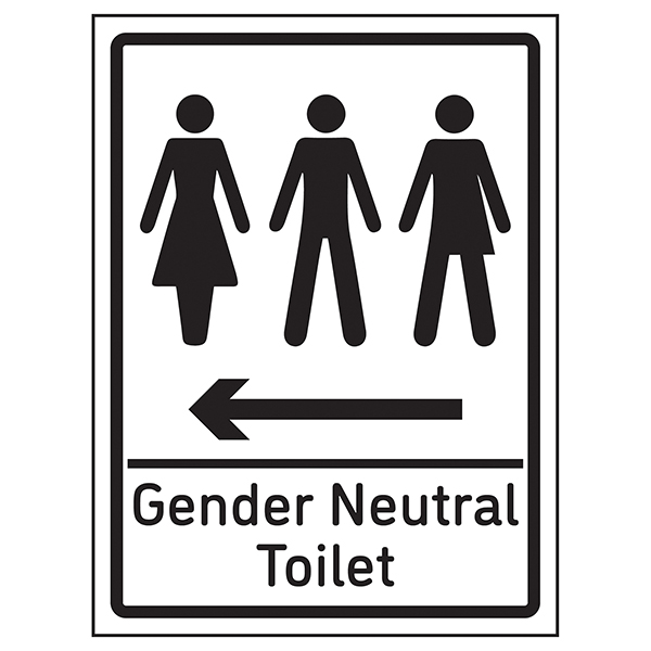 Gender Neutral Toilet Arrow Left