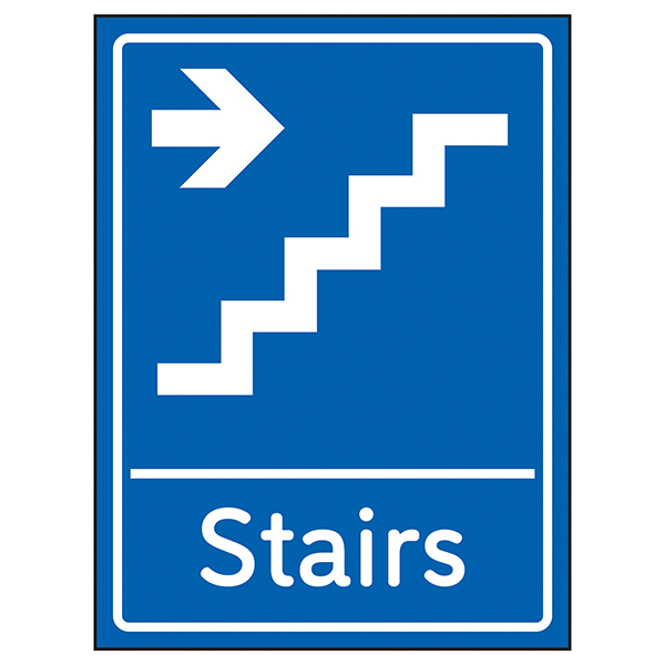 Stairs Arrow Right Blue