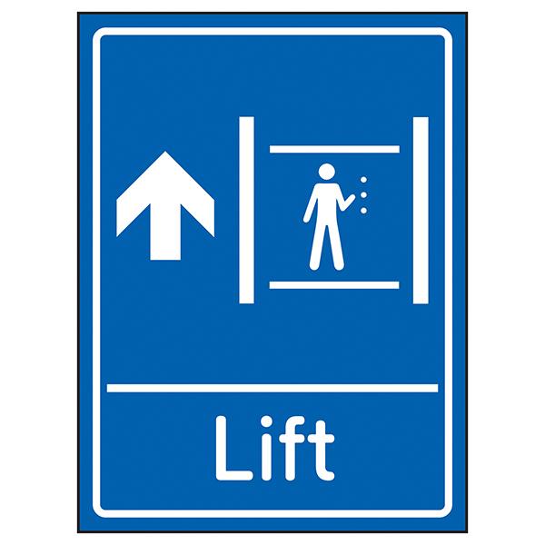 Lift Arrow Up Blue