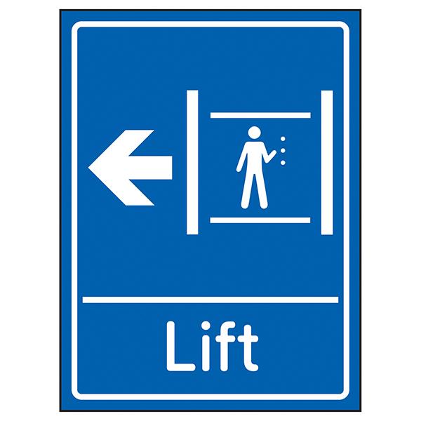 Lift Arrow Left Blue