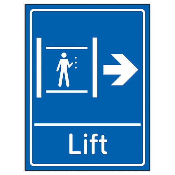 Lift Arrow Right Blue