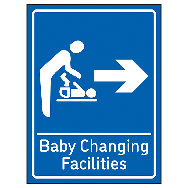 Baby Changing Facilities Arrow Right Blue