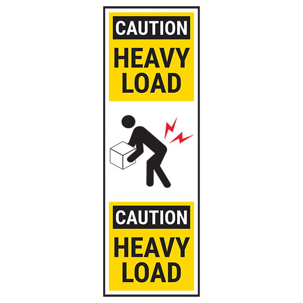 Heavy Load - Yellow Bold Labels On A Roll
