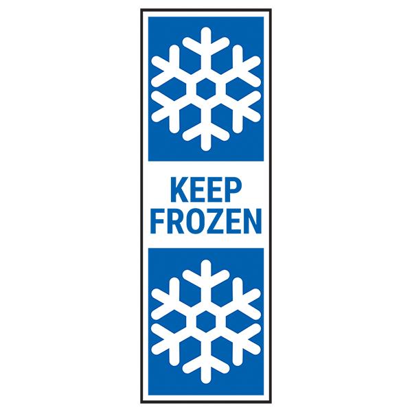Keep Frozen - Blue Labels On A Roll - Portrait
