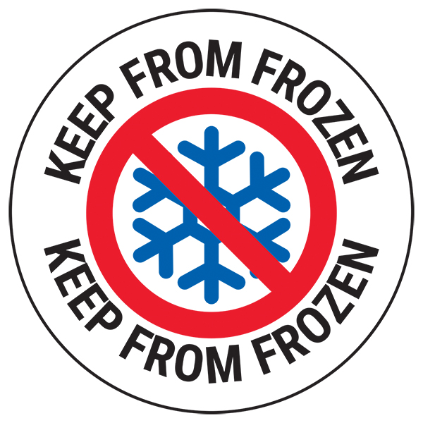 Keep From Frozen Circular Labels On A Roll