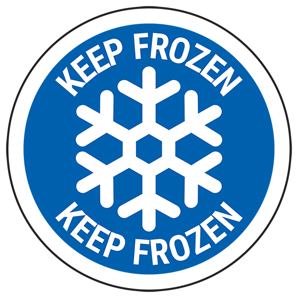 Keep Frozen - Blue Circular Labels On A Roll