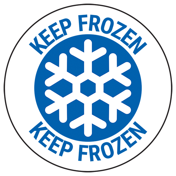 Keep Frozen - Black Circular Labels On A Roll