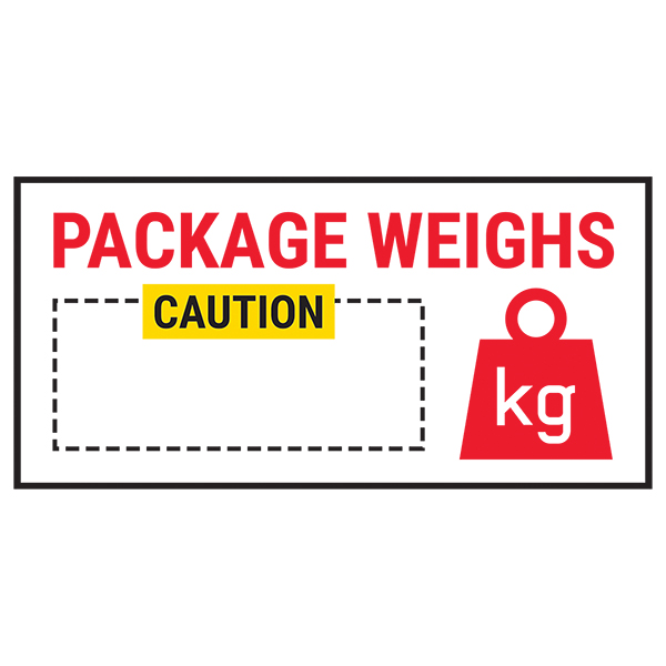 Caution Package Weighs Caution Red Labels On A Roll