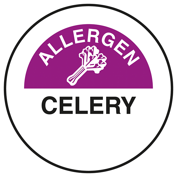 Allergen - Celery Circular Labels On A Roll