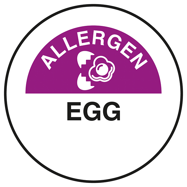 Allergen - Egg Circular Labels On A Roll