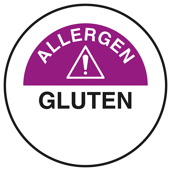 Gluten Circular Labels On A Roll