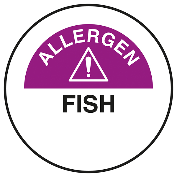 Fish Circular Labels On A Roll
