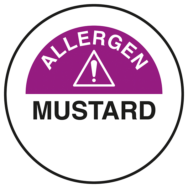 Mustard Circular Labels On A Roll