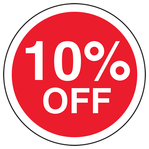 10% Off Circular Labels On A Roll