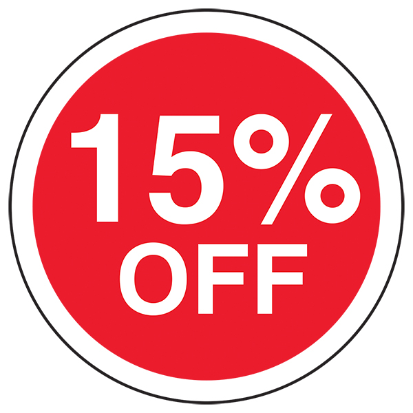 15% Off Circular Labels On A Roll