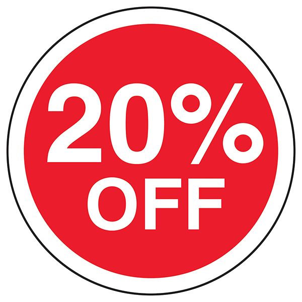 20% Off Circular Labels On A Roll