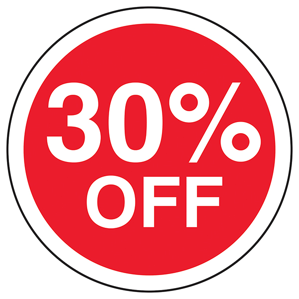 30% Off Circular Labels On A Roll