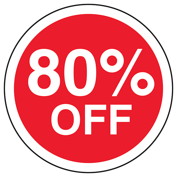 80% Off Circular Labels On A Roll