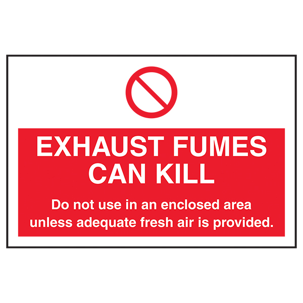 Exhaust Fumes Can Kill Labels On A Roll - Landscape