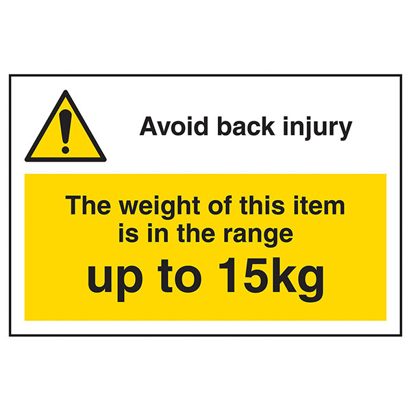 Avoid Back Injury - Weight Of This Item Up To 15kg Labels On A Roll - Landscape