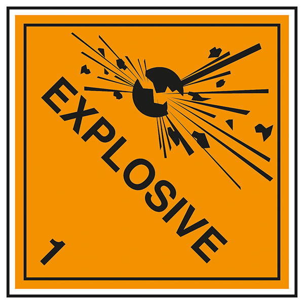 Class 1 Explosive - 1 Labels On A Roll