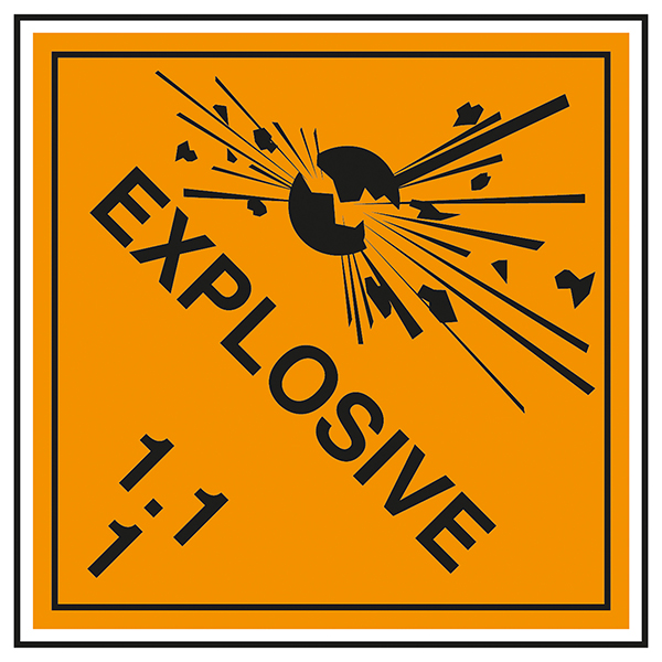 Class 1 Explosive - 1.1 Labels On A Roll