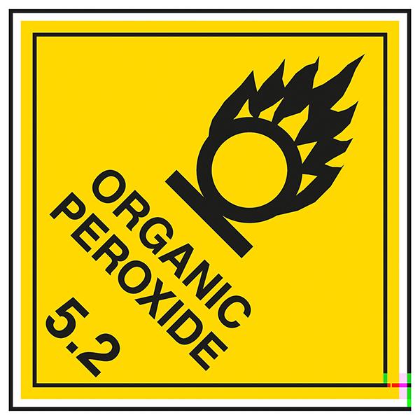 Class 5 Hazard - Organic Peroxide 5.2 Labels On A Roll
