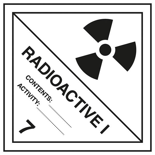 Class 7 Hazard - Radioactive 7 1 Labels On A Roll